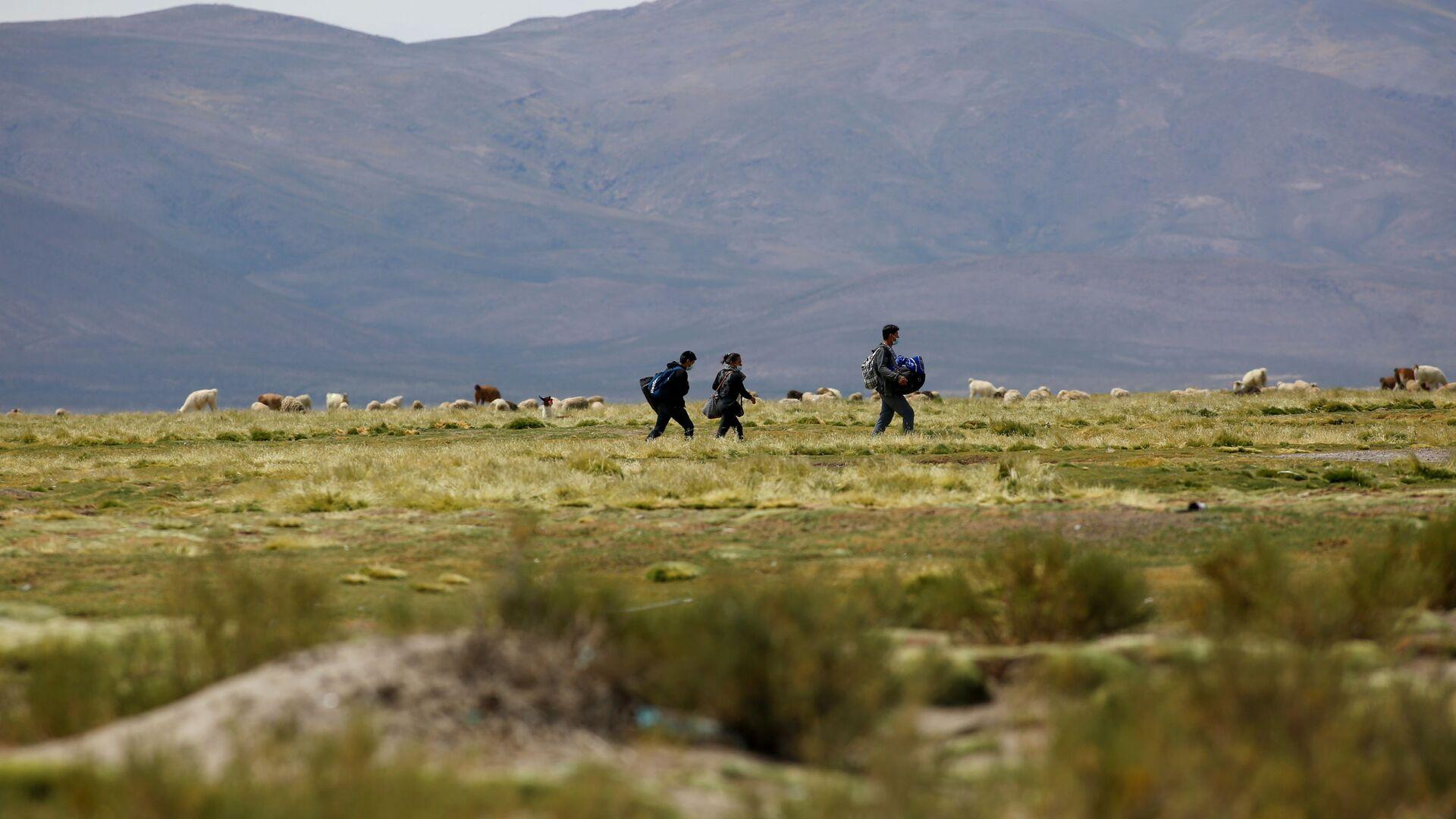 Migrantes en la frontera entre Chile y Bolivia - Sputnik Mundo, 1920, 09.02.2021