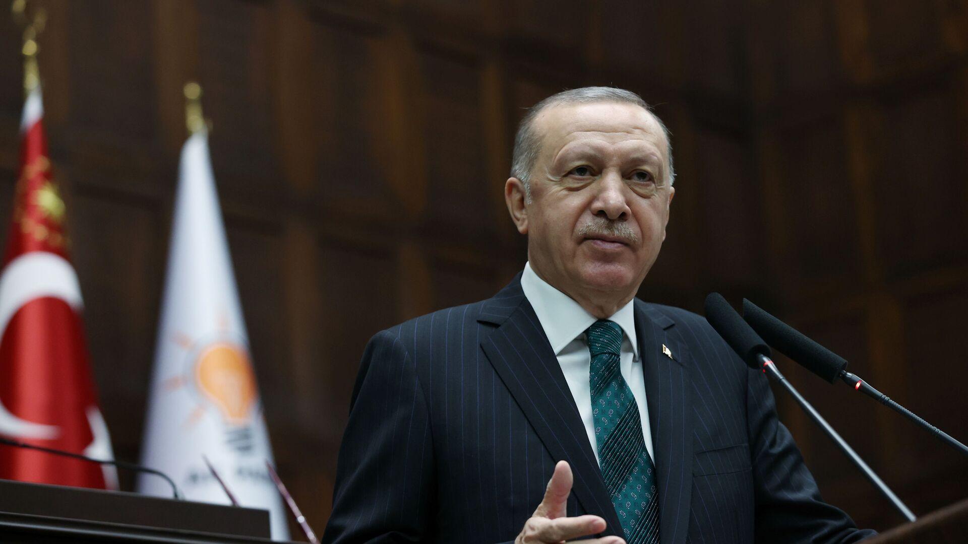 Recep Tayyip Erdogan, presidente de Turquía  - Sputnik Mundo, 1920, 18.08.2021