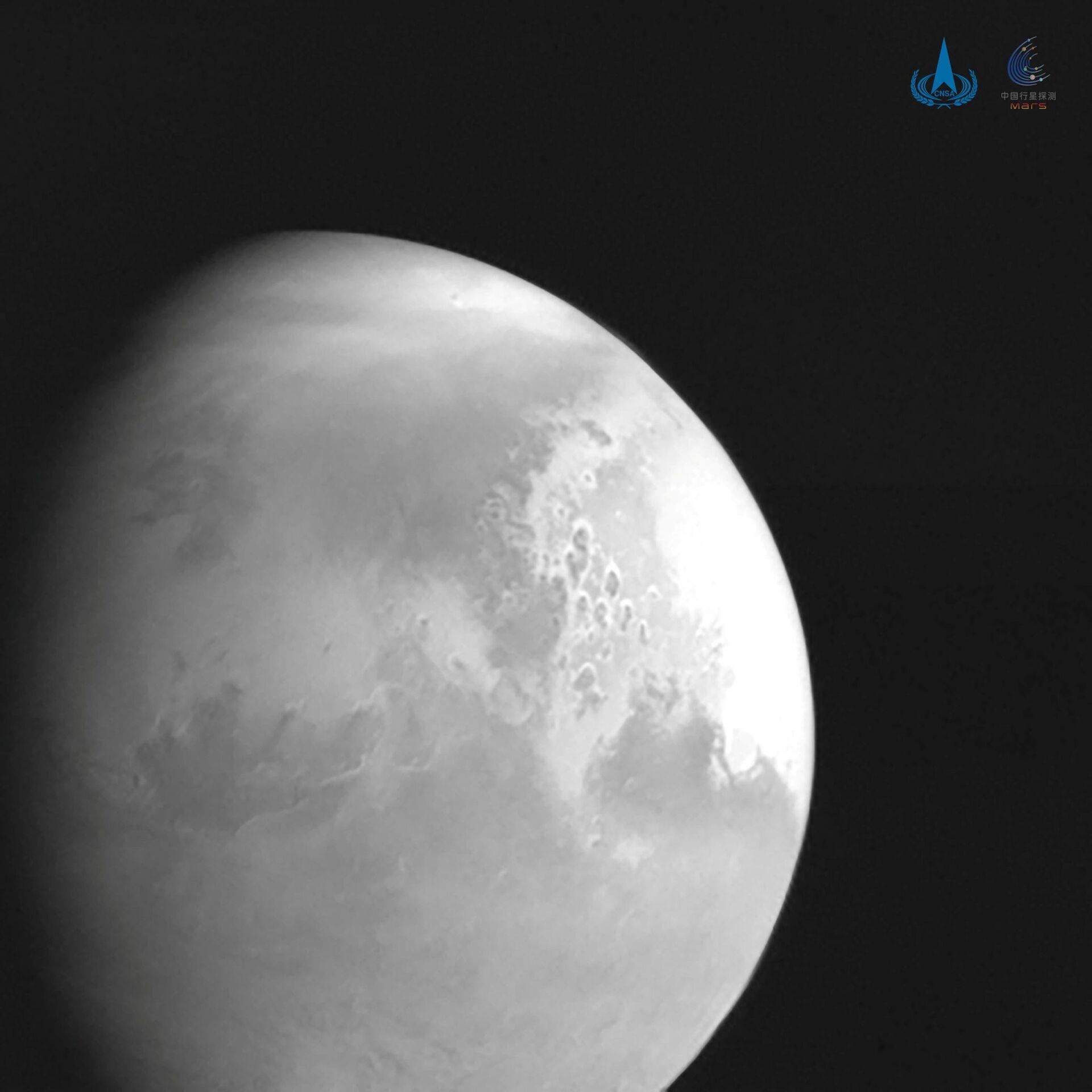 La primera imagen de Marte tomada por la sonda china Tianwen-1 - Sputnik Mundo, 1920, 11.02.2021
