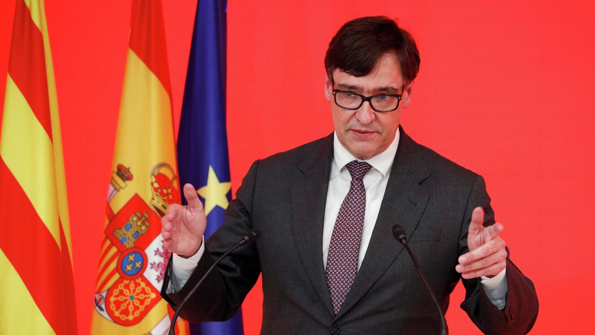 Salvador Illa, candidato a la presidencia de Cataluña del Partido Socialista Catalán  - Sputnik Mundo, 1920, 15.02.2021