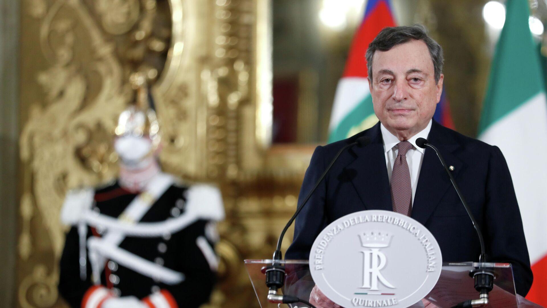 Mario Draghi, primer ministro de Italia - Sputnik Mundo, 1920, 20.05.2021