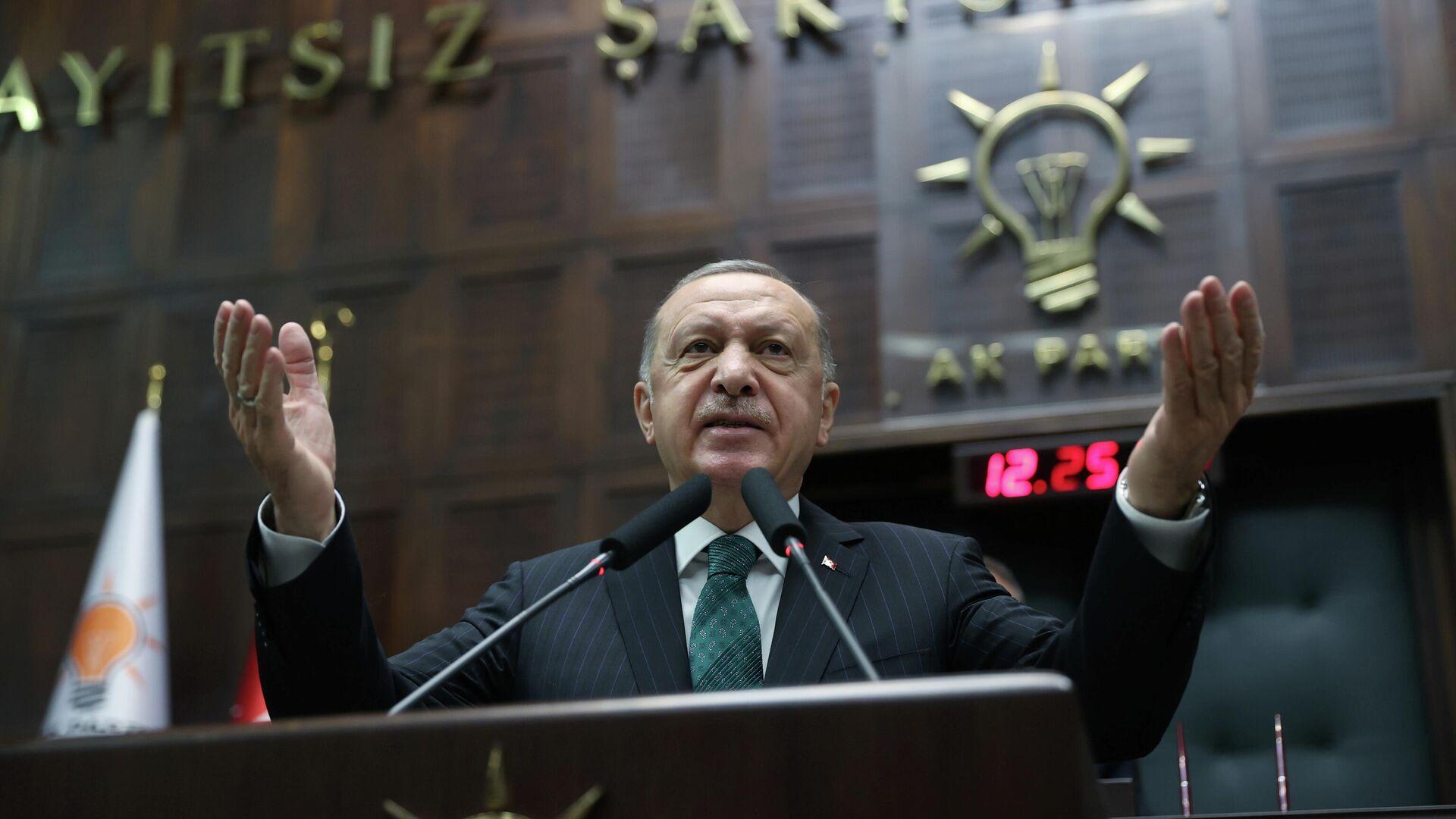 El presidente de Turquía, Recep Tayyip Erdogan - Sputnik Mundo, 1920, 17.05.2021