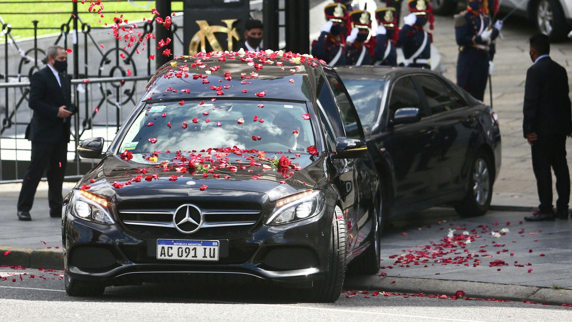 Cortejo fúnebre del expresidente argentino Carlos Menem - Sputnik Mundo, 1920, 15.02.2021
