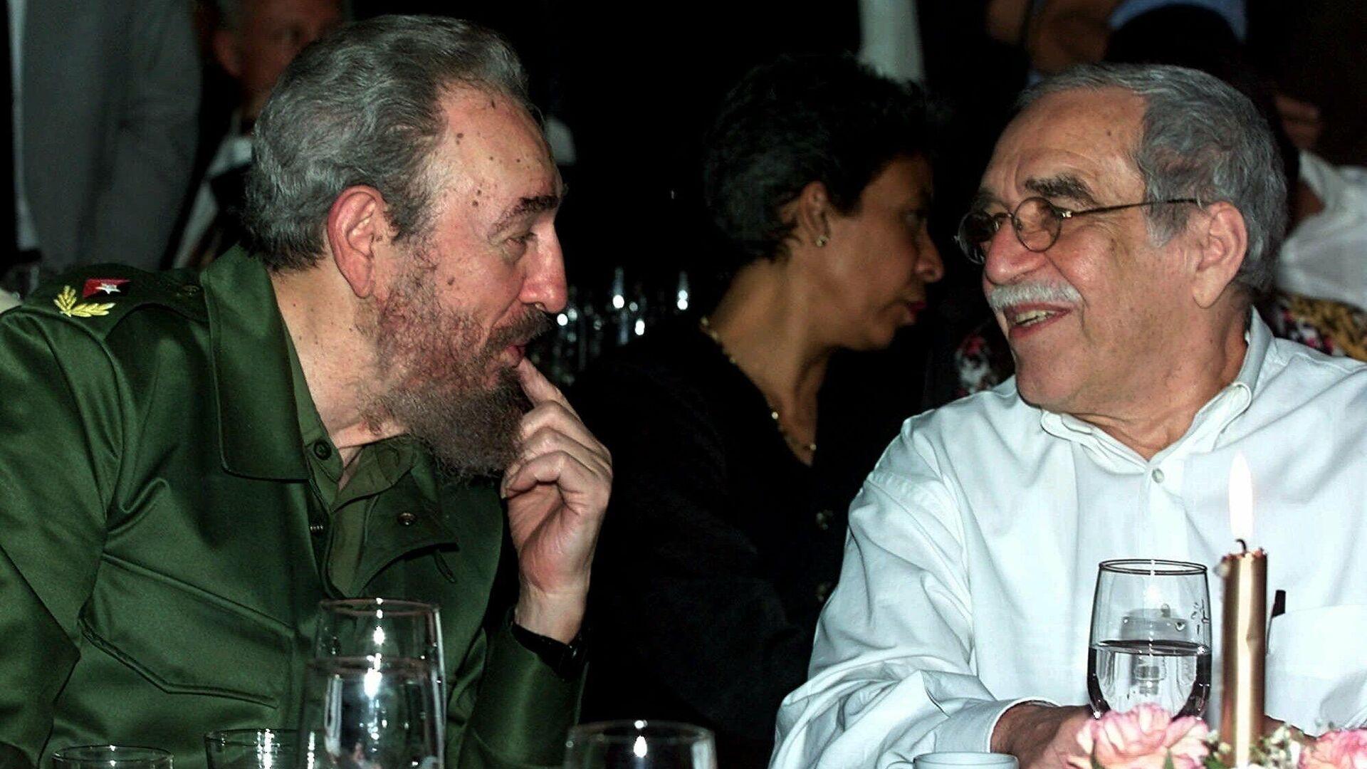 Fidel Castro y Gabriel García Márquez en La Habana - Sputnik Mundo, 1920, 16.02.2021