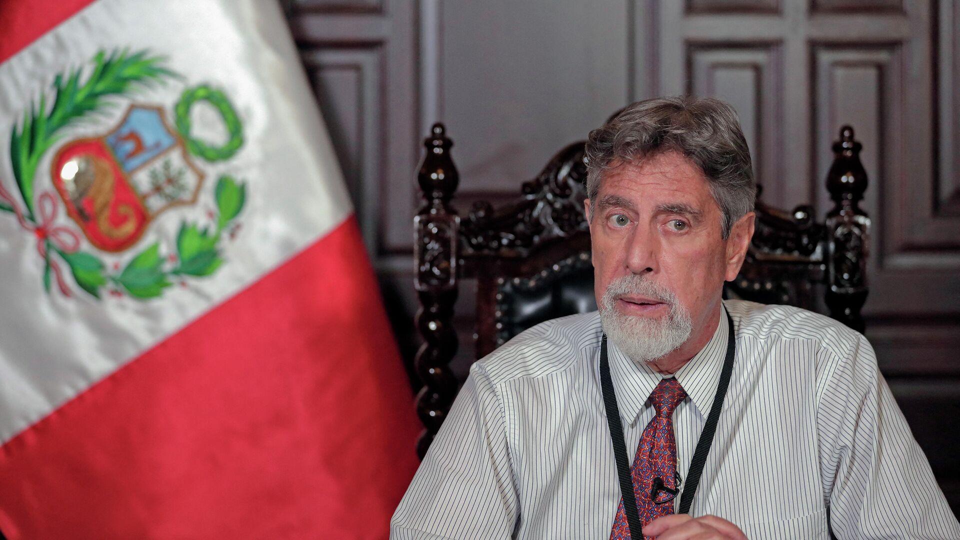 Francisco Sagasti, presidente de Perú - Sputnik Mundo, 1920, 20.04.2021
