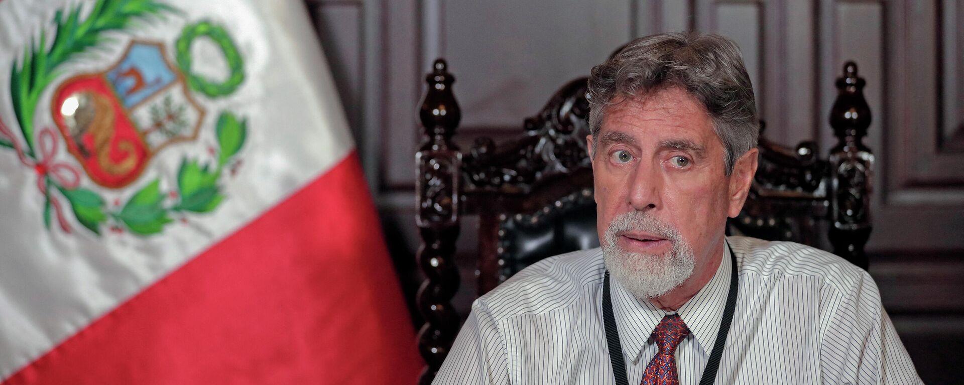 Francisco Sagasti, presidente de Perú - Sputnik Mundo, 1920, 08.07.2021
