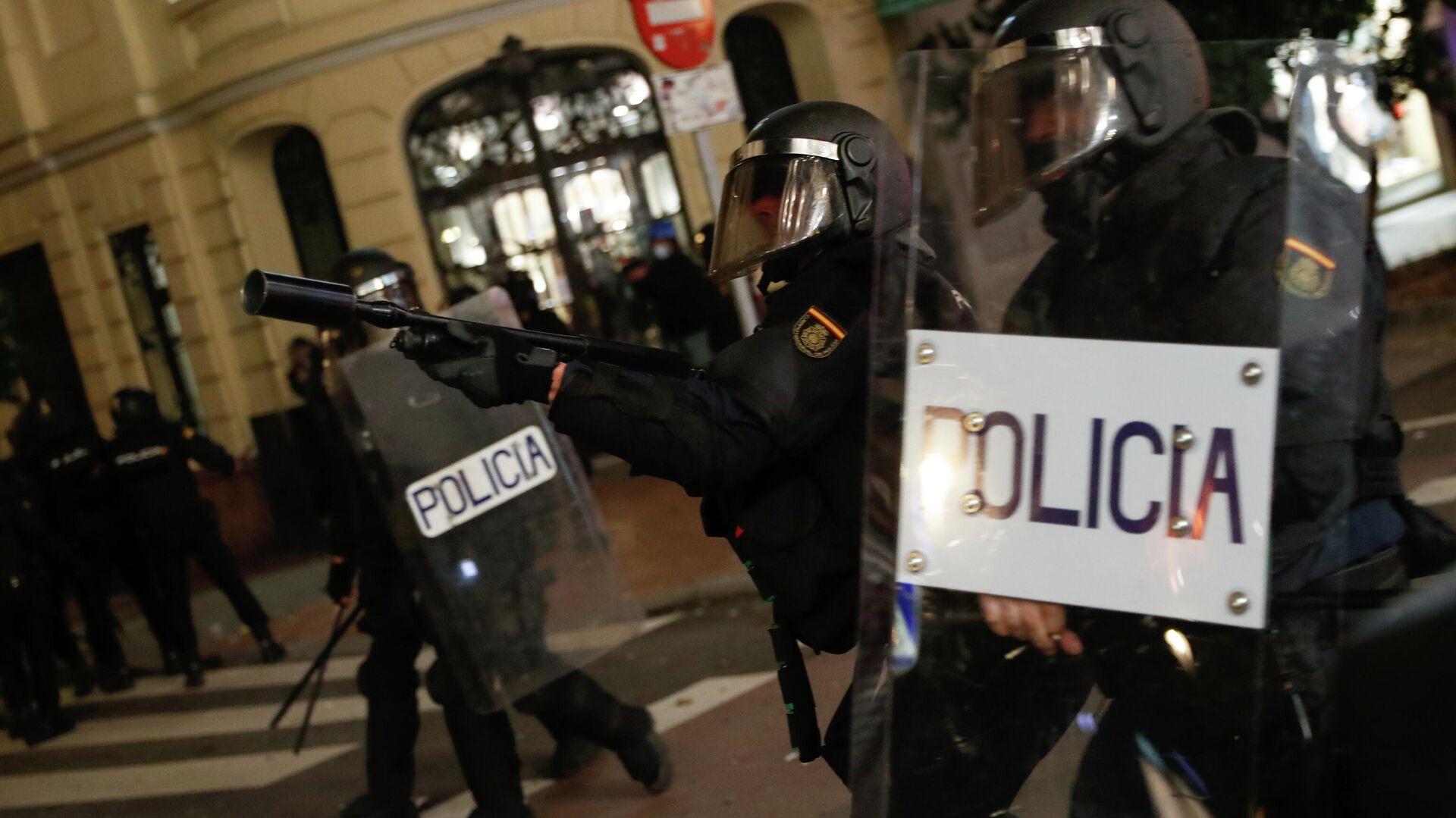 Protestas en Madrid - Sputnik Mundo, 1920, 17.02.2021