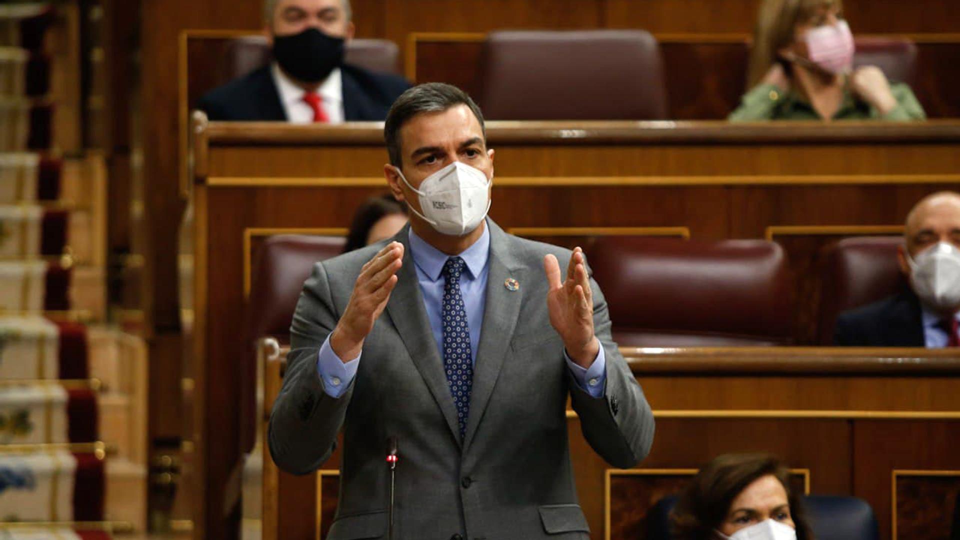El presidente del Gobierno de España, Pedro Sánchez, en la sesión de control al Gobierno del Congreso de los Diputados - Sputnik Mundo, 1920, 24.02.2021