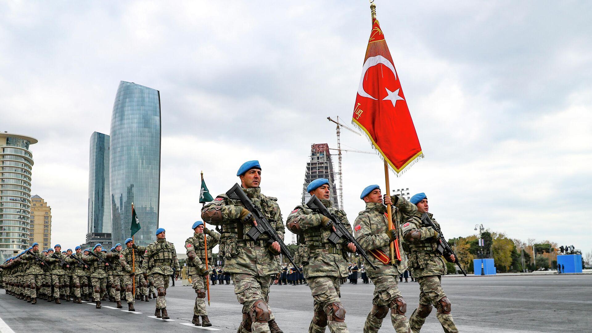 Soldados turcos en Azerbaiyán - Sputnik Mundo, 1920, 18.02.2021