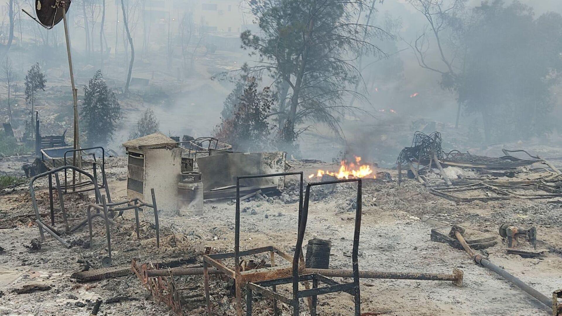 Incendio del asentamiento de inmigrantes en Palos de la Frontera - Sputnik Mundo, 1920, 19.02.2021