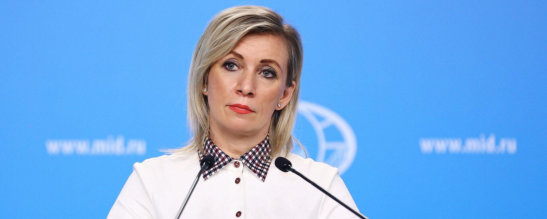 María Zajárova, portavoz del Ministerio de Asuntos Exteriores de Rusia - Sputnik Mundo, 1920, 25.04.2021