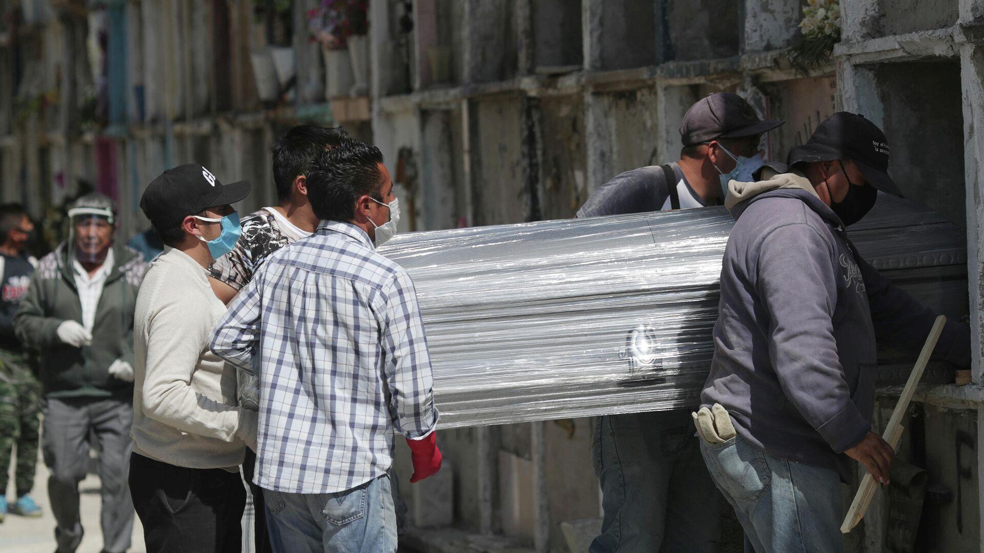 Funeral de un fallecido por COVID-19 en México - Sputnik Mundo, 1920, 19.02.2021