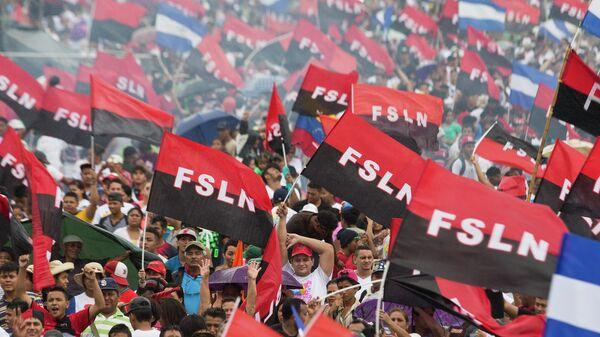 Partidarios del Frente Sandinista de Liberación Nacional (FSLN) - Sputnik Mundo