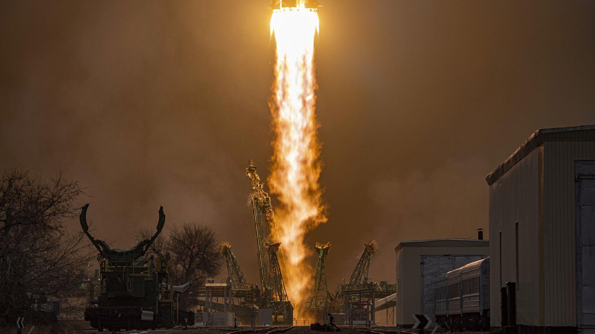 Lanzamiento del cohete portador Soyuz-2-1a con la nave de carga Progress MS-16 - Sputnik Mundo, 1920, 27.06.2021