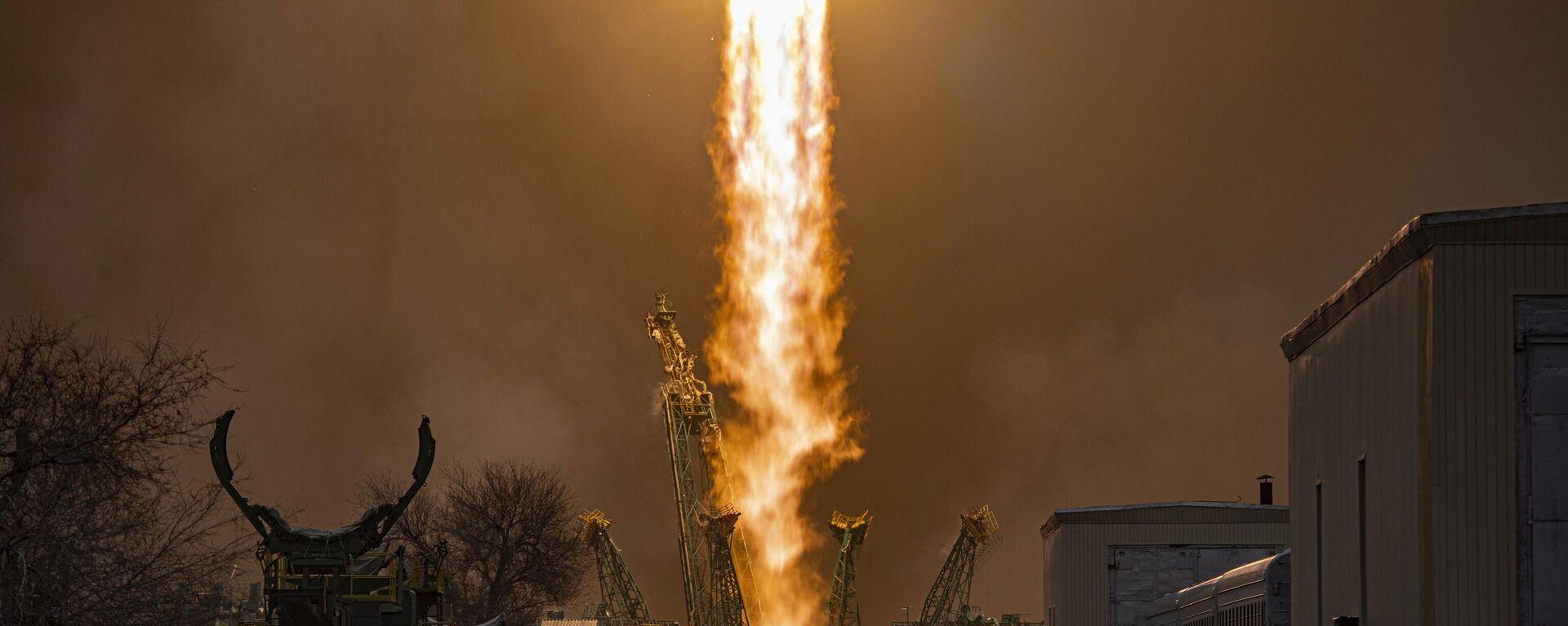 Lanzamiento del cohete portador Soyuz-2-1a con la nave de carga Progress MS-16 - Sputnik Mundo, 1920, 21.08.2021