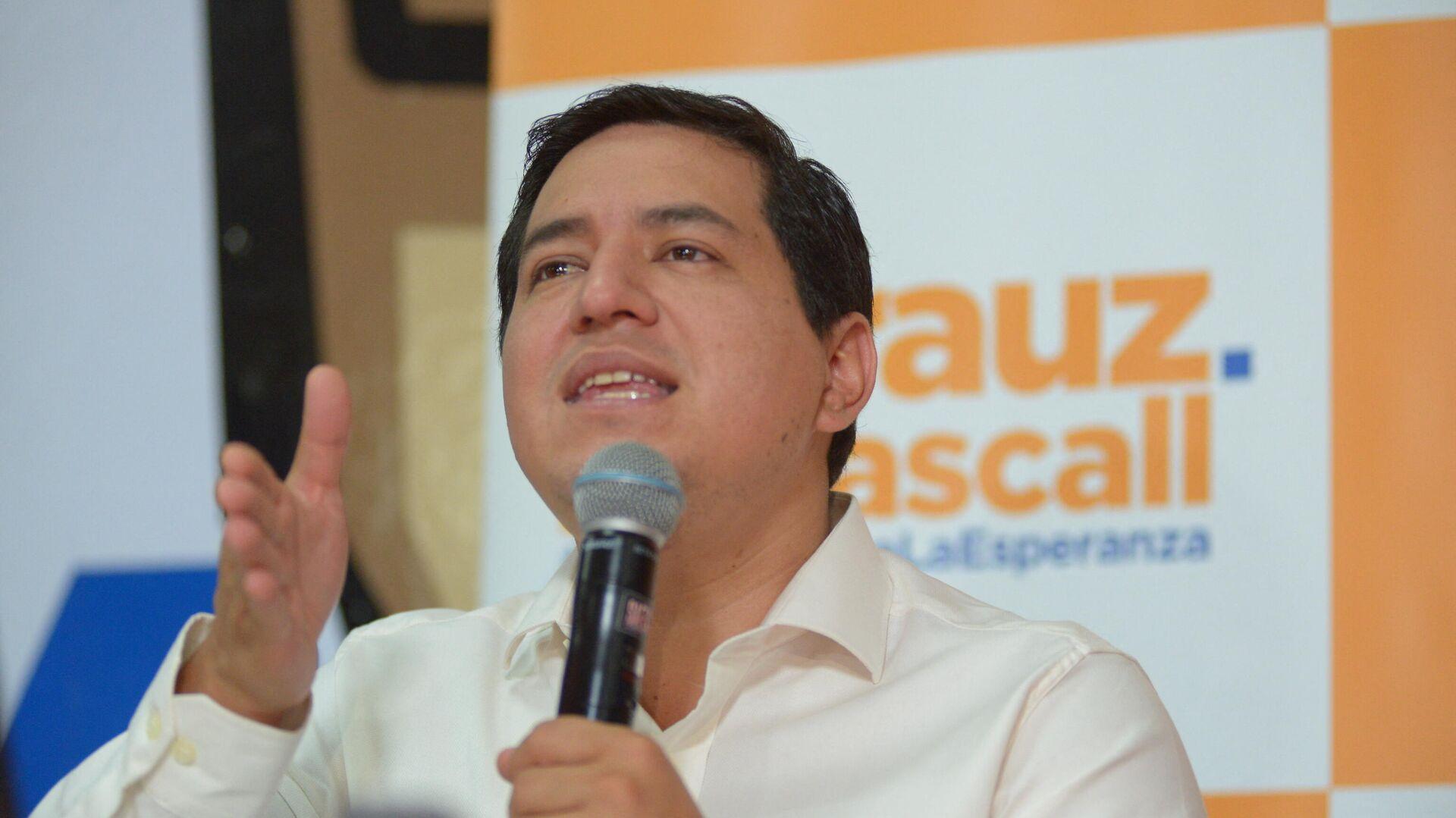 Andrés Arauz, candidato a la presidencia de Ecuador - Sputnik Mundo, 1920, 21.02.2021