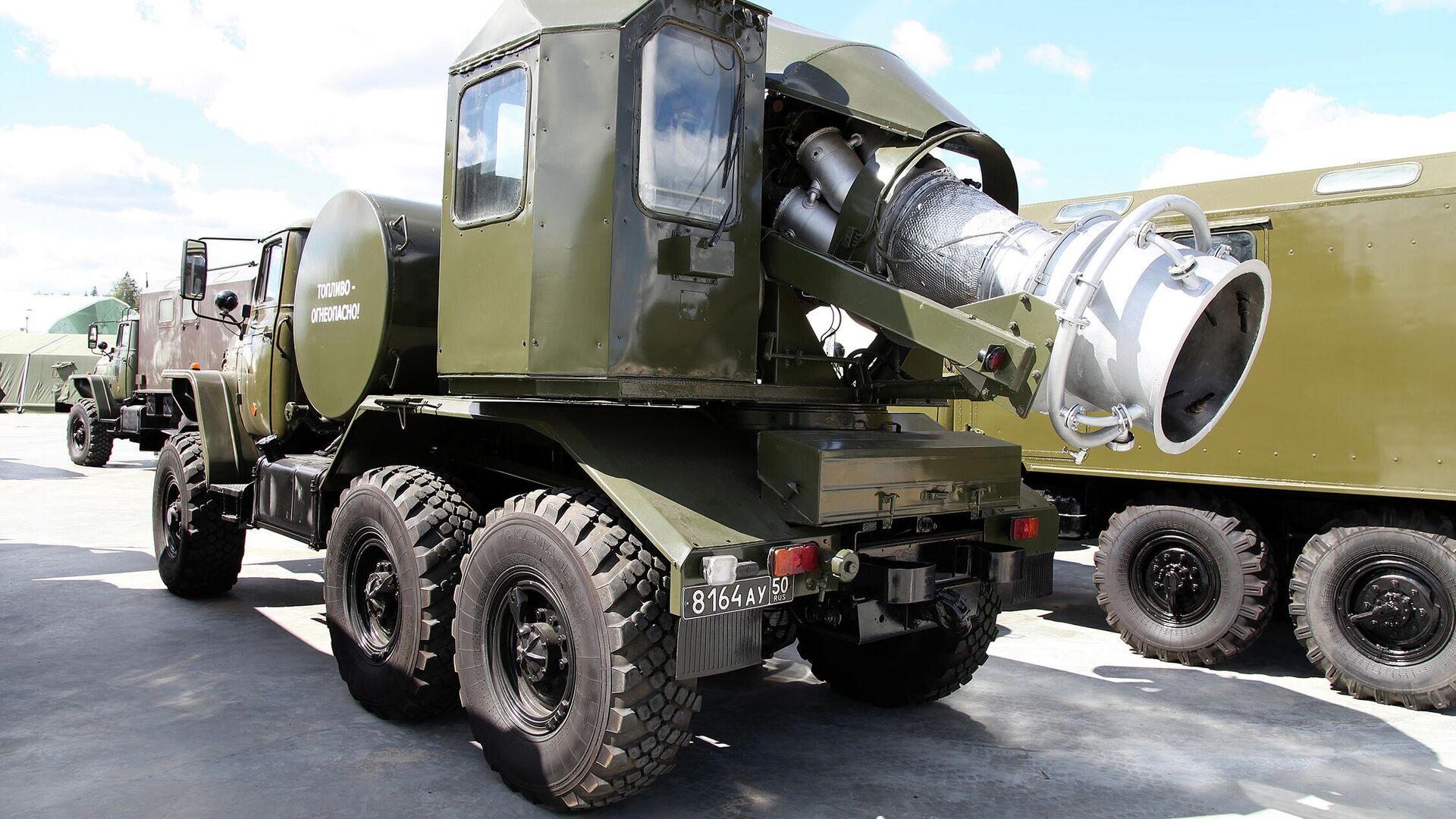 Un camión TMS-65U equipado con un motor turborreactor de un MiG-15  (imágen referencial) - Sputnik Mundo, 1920, 22.02.2021