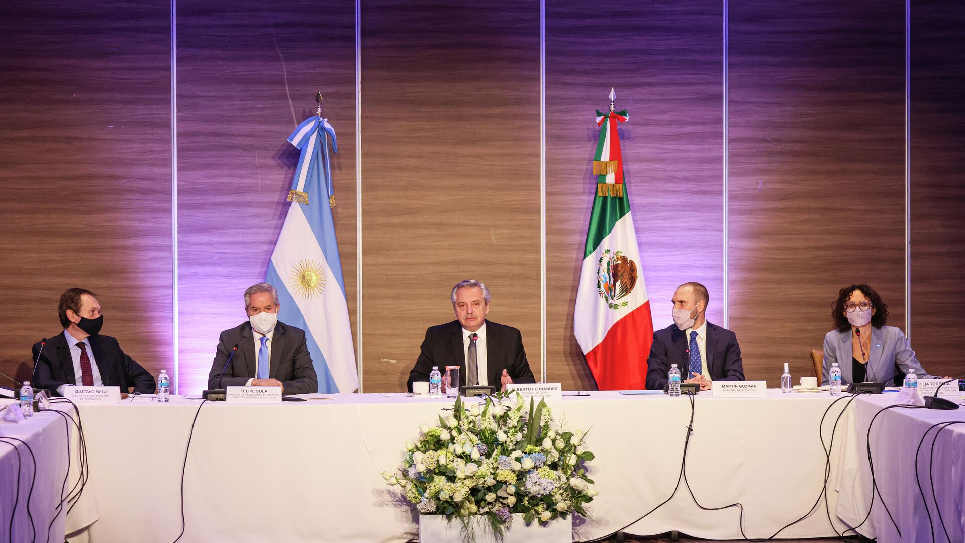 Presidente argentino Alberto Fernández en reunión con empresarios mexicanos - Sputnik Mundo, 1920, 22.02.2021