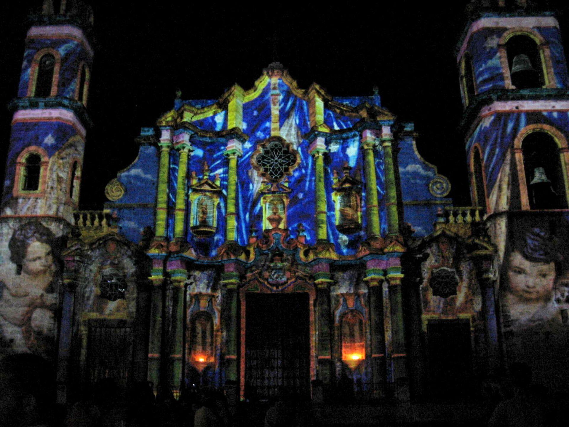 Catedral de La Habana iluminada, marzo de 2012, obra del artista italo-francés Gaspare Di Caro - Sputnik Mundo, 1920, 22.02.2021