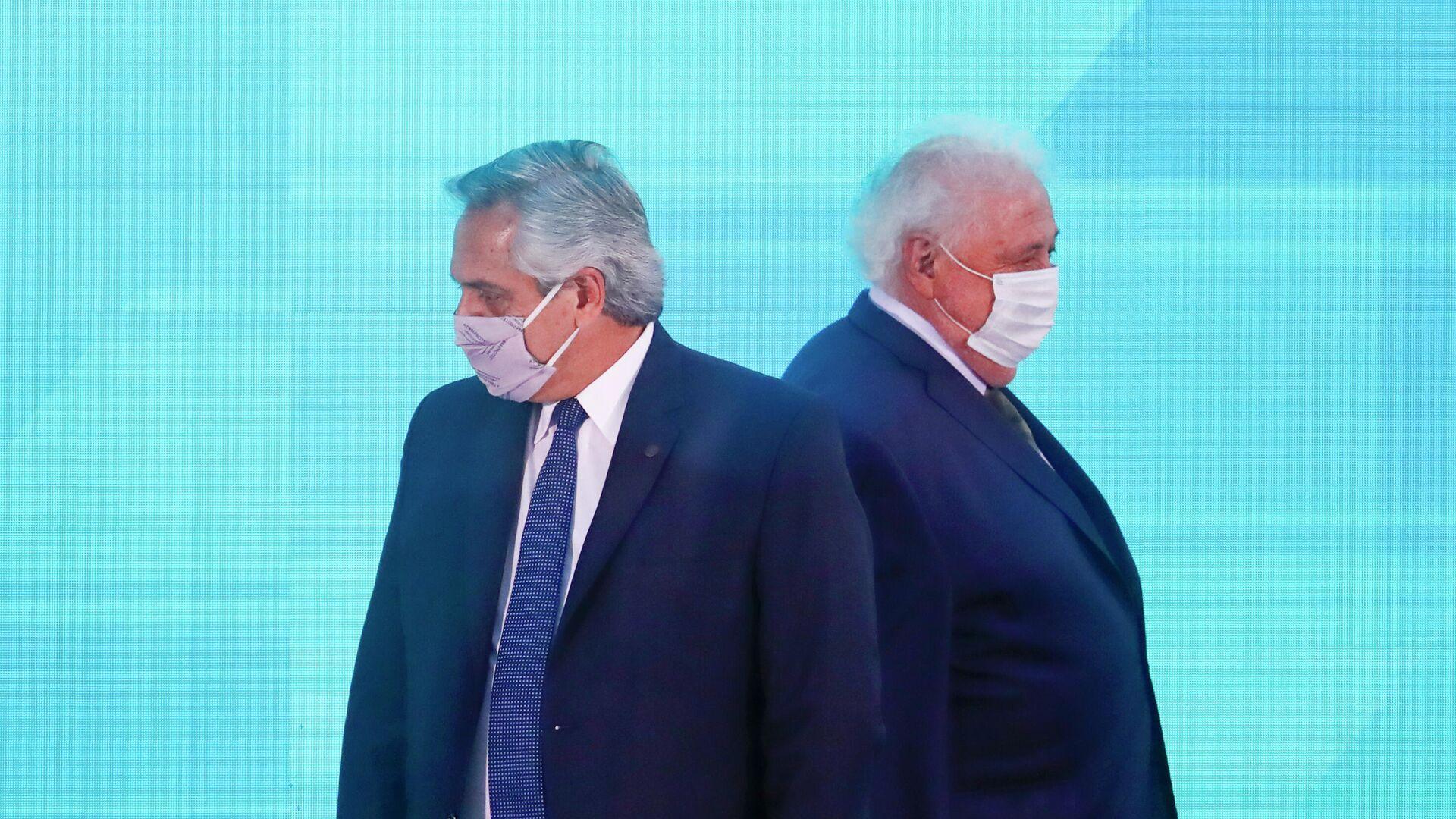 Alberto Fernández, presidente de Argentina, y Ginés González García, exministro de Salud - Sputnik Mundo, 1920, 23.02.2021