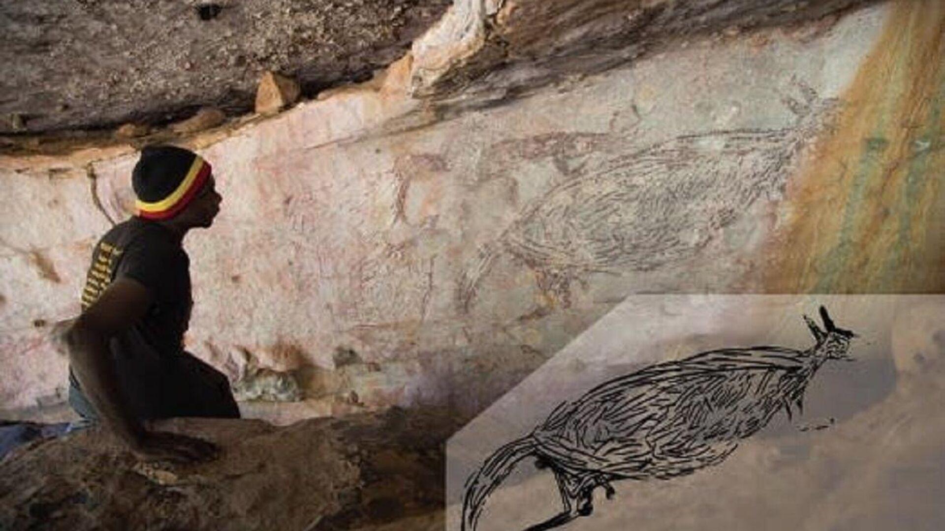 El dibujo rupestre más antiguo de Australia que tiene edad de más de 17.000 años - Sputnik Mundo, 1920, 23.02.2021