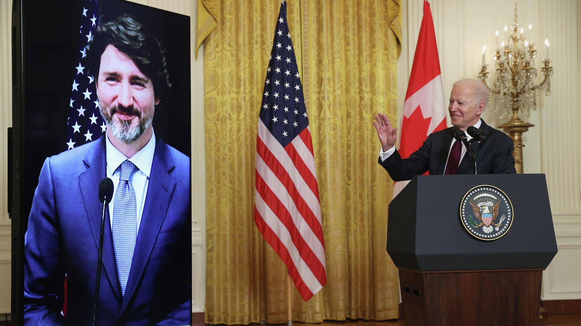 Reunión bilateral virtual entre Joe Biden y Justin Trudeau - Sputnik Mundo, 1920, 24.02.2021