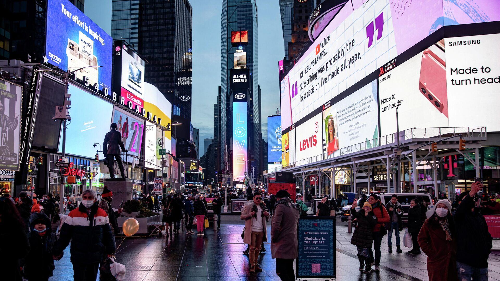 Times Square en Nueva York, EEUU - Sputnik Mundo, 1920, 24.02.2021
