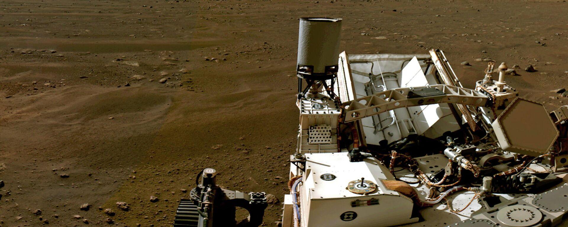 El paisaje marciano visto desde el rover Perseverance - Sputnik Mundo, 1920, 07.05.2021