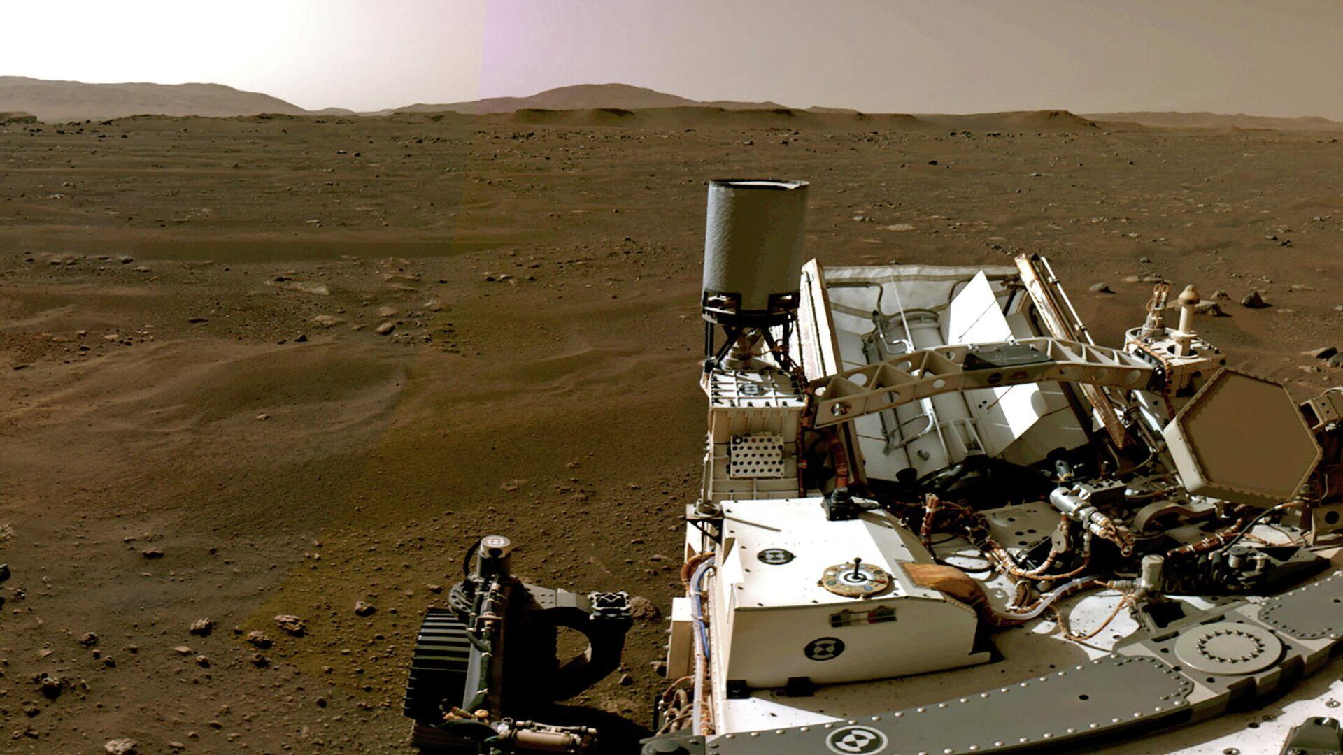 El paisaje marciano visto desde el rover Perseverance - Sputnik Mundo, 1920, 24.02.2021