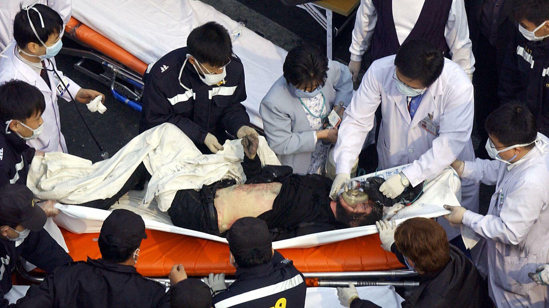 Un herido en el incendio en el metro de Daegu - Sputnik Mundo, 1920, 24.02.2021