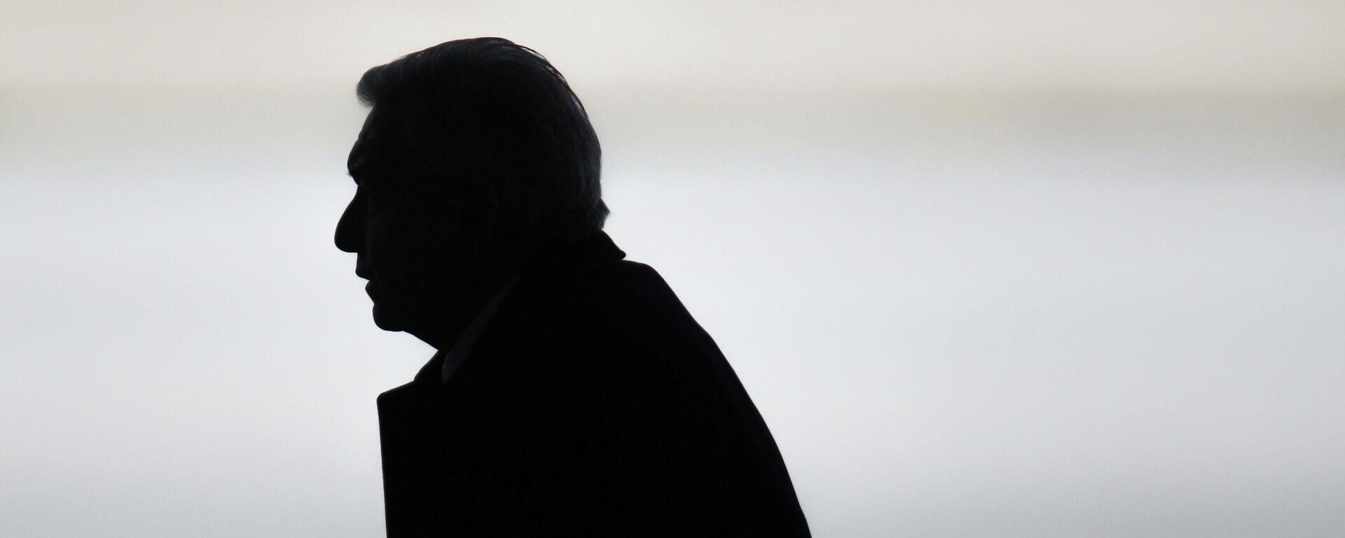 El presidente de México, Andrés Manuel López Obrador, durante la inauguración de una ampliación de la que había sido la Base Aérea Militar Santa Lucía.  - Sputnik Mundo, 1920, 17.05.2021