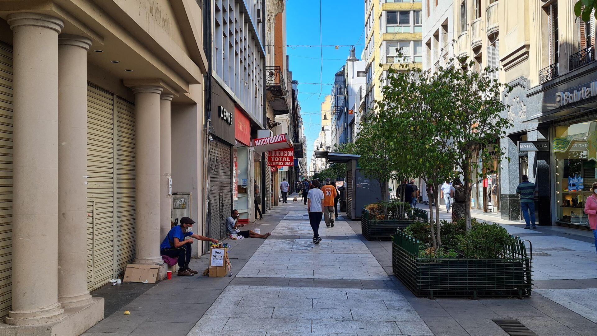 La peatonal más famosa de Buenos Aires perdió su bullicio y vivacidad - Sputnik Mundo, 1920, 25.02.2021