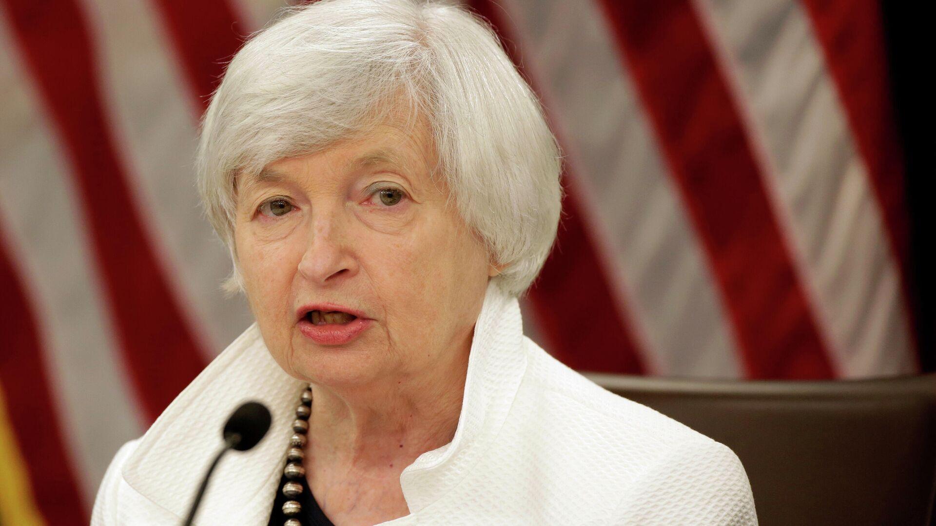Janet Yellen, la secretaria del Tesoro de EEUU - Sputnik Mundo, 1920, 25.02.2021