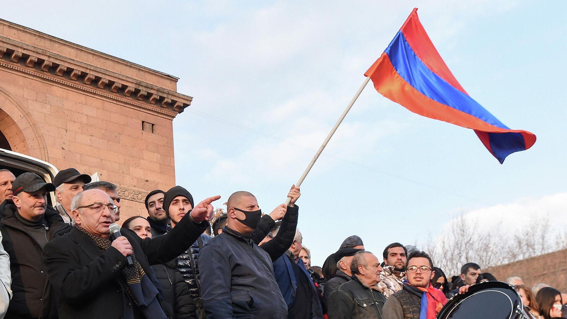 Las protestas en Armenia - Sputnik Mundo, 1920, 26.02.2021