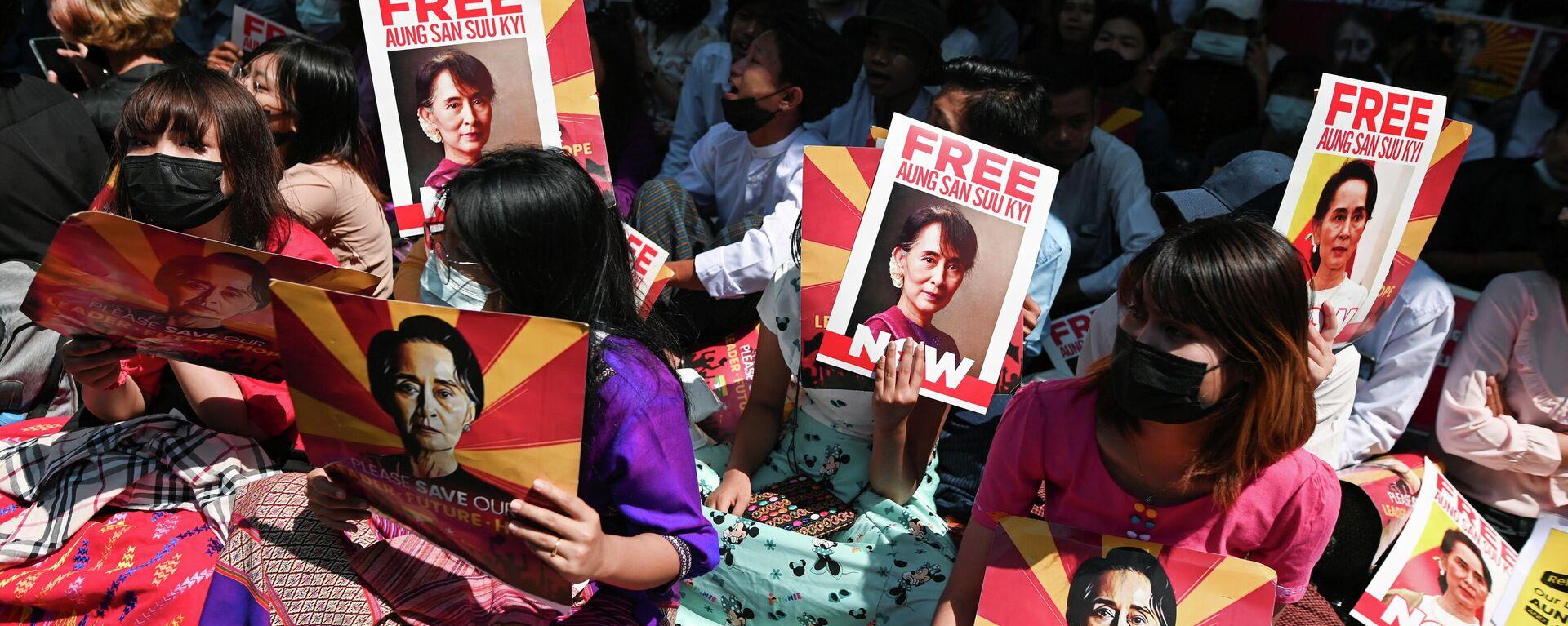 Protestas en Birmania - Sputnik Mundo, 1920, 26.04.2021