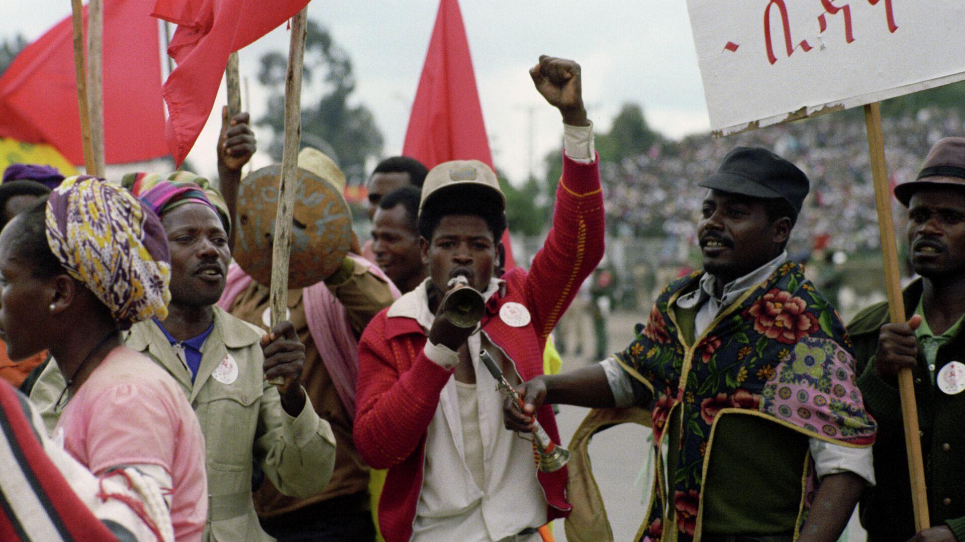 Celebración del Día de la Revolución en la Etiopía socialista (archivo) - Sputnik Mundo, 1920, 26.02.2021