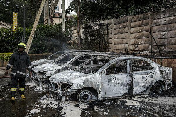 Fotos del español Luis Tato sobre el ataque terrorista contra un hotel en Nairobi en enero de 2019 - Sputnik Mundo