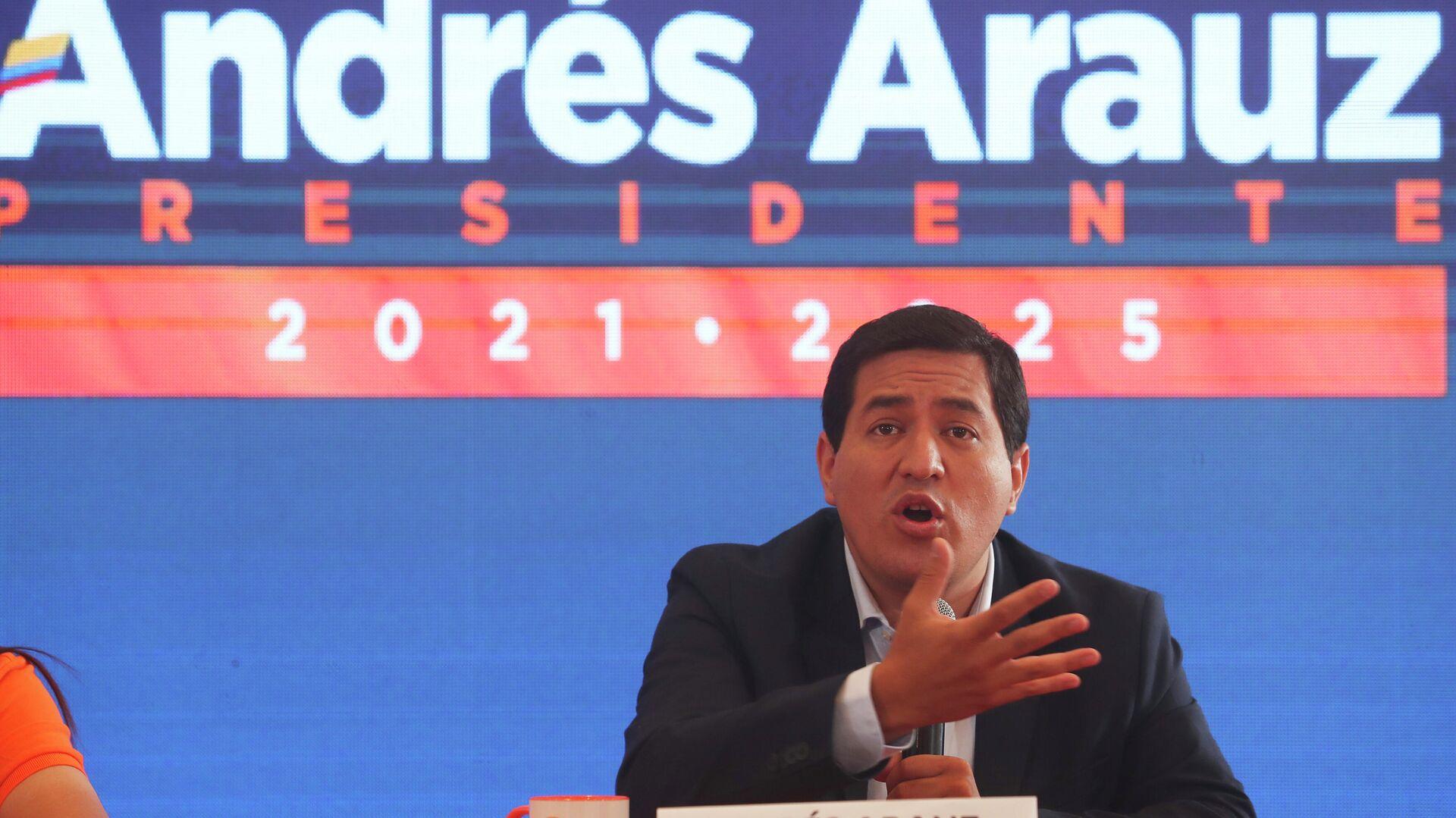 Andrés Arauz, candidato a la presidencia de Ecuador - Sputnik Mundo, 1920, 19.03.2021