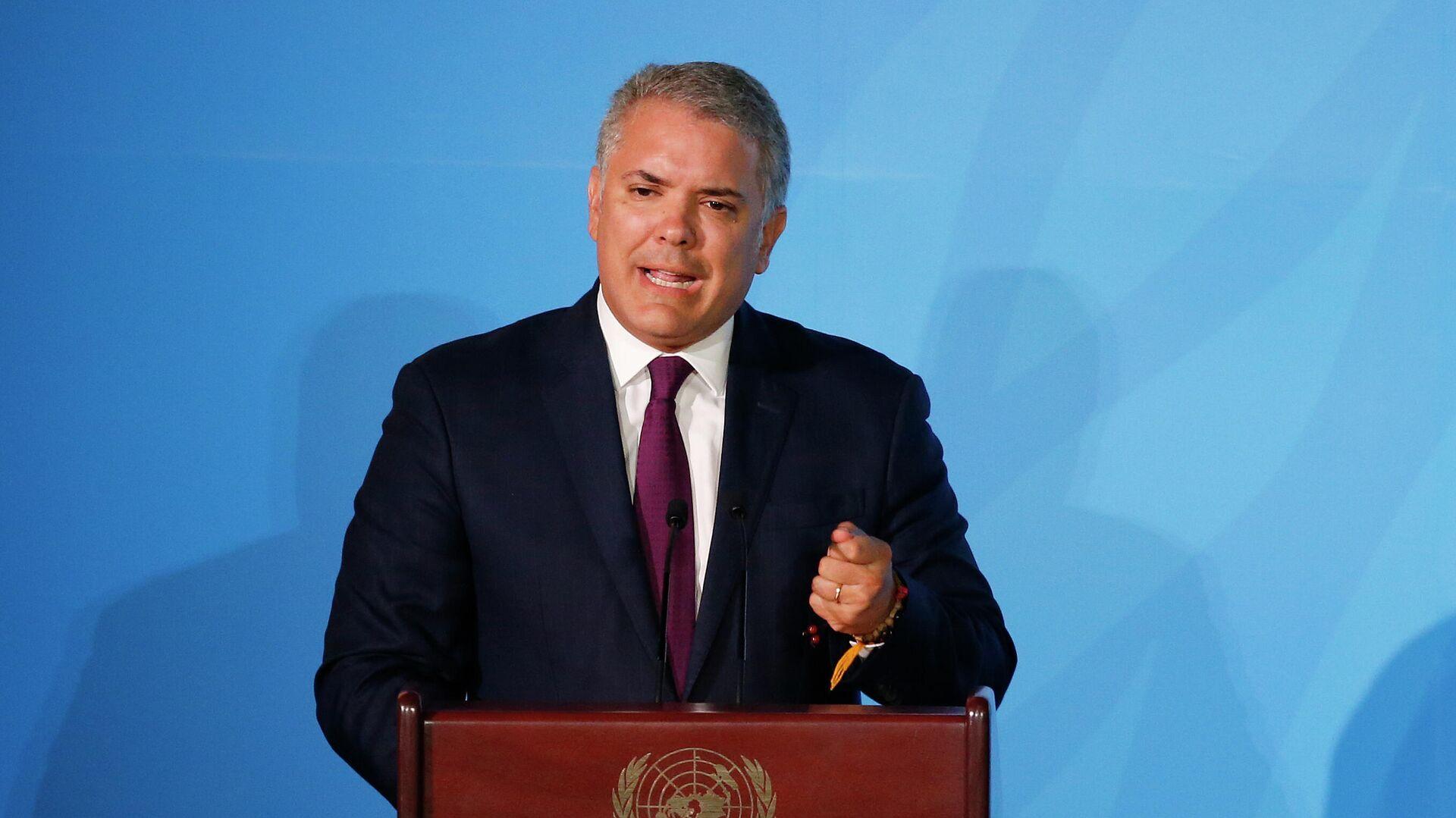 Iván Duque, presidente de Colombia - Sputnik Mundo, 1920, 15.09.2021