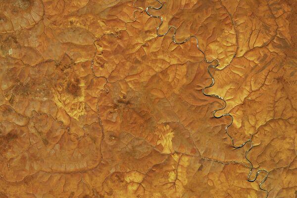 Una imágen satelital de meseta norte de Siberia central en septiembre - Sputnik Mundo
