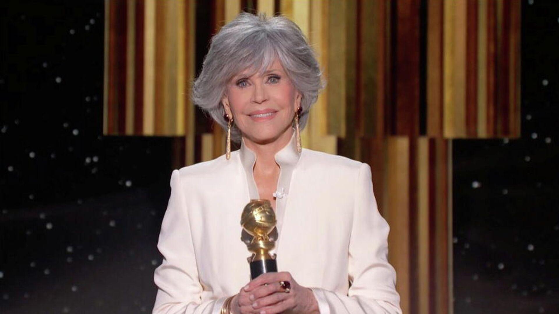 Jane Fonda, actriz estadounidense, recibe el premio  Cecil B. DeMille en la 78 ceremonia de los Globo de Oro - Sputnik Mundo, 1920, 01.03.2021