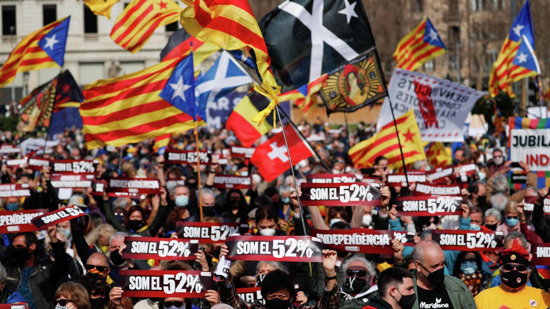 Protestas en Barcelona - Sputnik Mundo, 1920, 01.03.2021