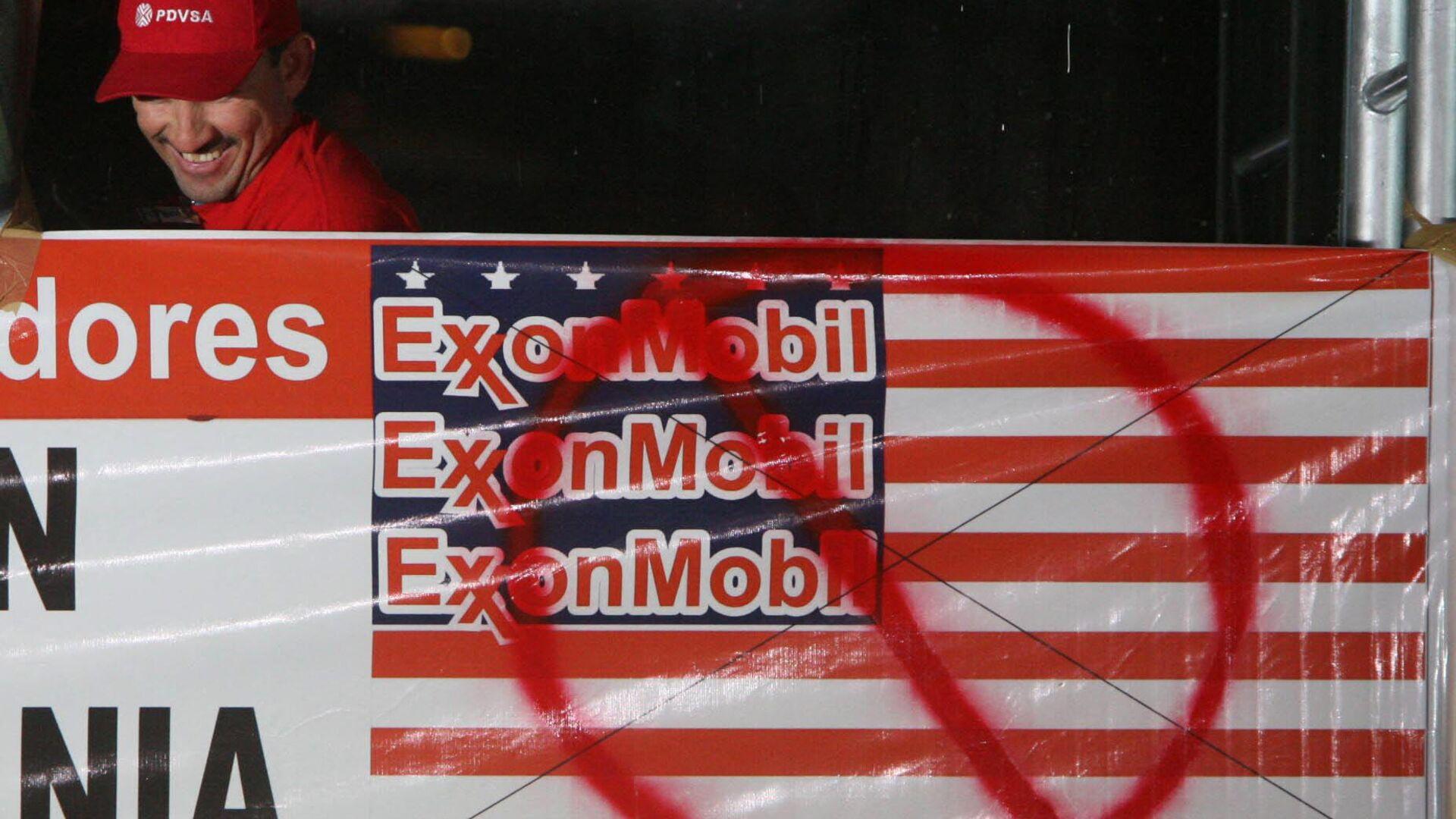 Protesta contra Exxon Mobil en Venezuela - Sputnik Mundo, 1920, 02.03.2021