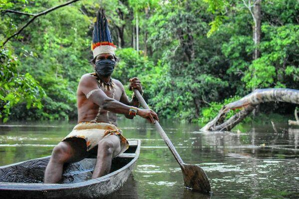 La selva amazónica es una vasta región de bosques tropicales húmedos de hoja perenne y ancha, la selva tropical más grande del mundo. Cubre 5,5 millones de kilómetros cuadrados: la mitad del área total de bosques tropicales conservados en el planeta, ubicados en el territorio de nueve estados de Sudamérica. Este bosque sigue siendo uno de los lugares menos explorados de la Tierra. Los científicos creen que es el hogar de más de 300 grupos étnicos indígenas. Los incendios en la Amazonía en 2019 causaron graves daños a las selvas tropicales y se convirtieron en uno de los temas más comentados en todo el mundo. - Sputnik Mundo