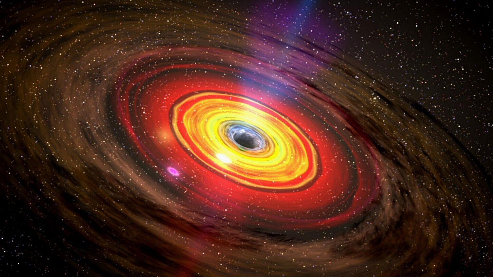 Un agujero negro, ilustración - Sputnik Mundo, 1920, 03.03.2021