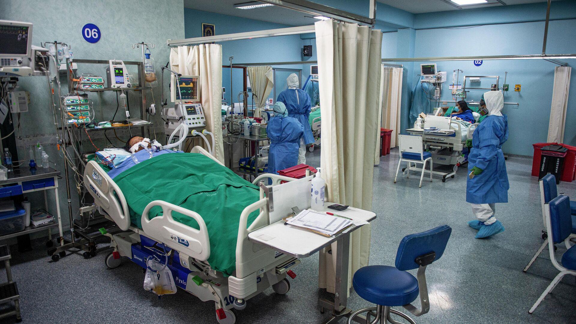 Hospital con pacientes con COVID-19 en Lima, Perú - Sputnik Mundo, 1920, 03.03.2021