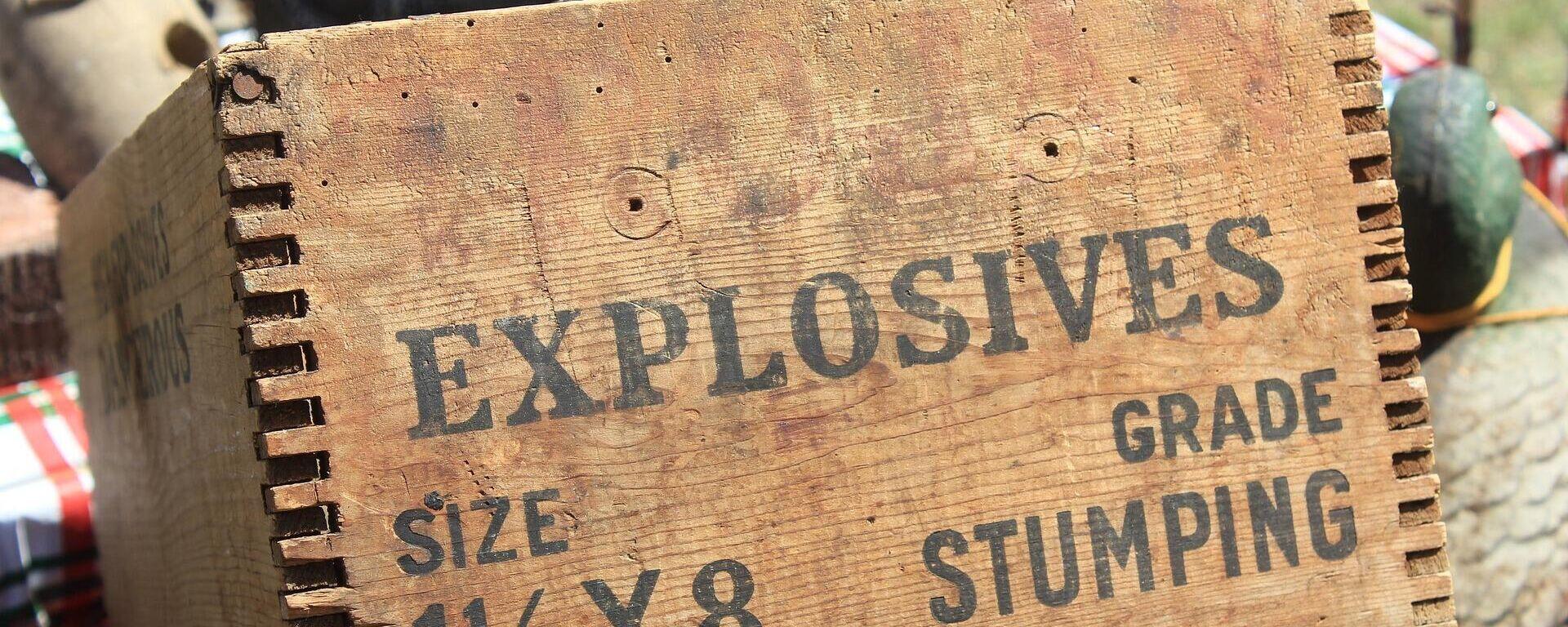 Imagen referencial de unos explosivos - Sputnik Mundo, 1920, 04.03.2021