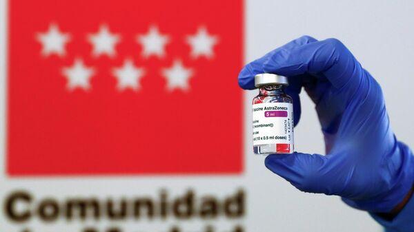 Vacunación con AstraZeneca en Madrid - Sputnik Mundo