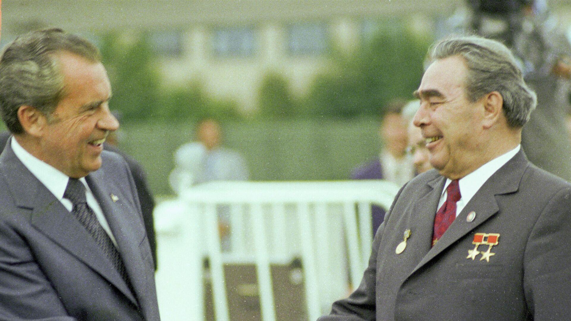 El presidente de EEUU, Richard Nixon, y el líder de la URSS, Leonid Brezhnev - Sputnik Mundo, 1920, 04.03.2021