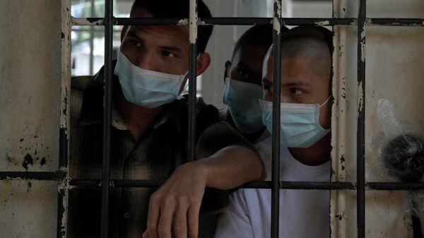 Prisioneros en una cárcel de El Salvador - Sputnik Mundo